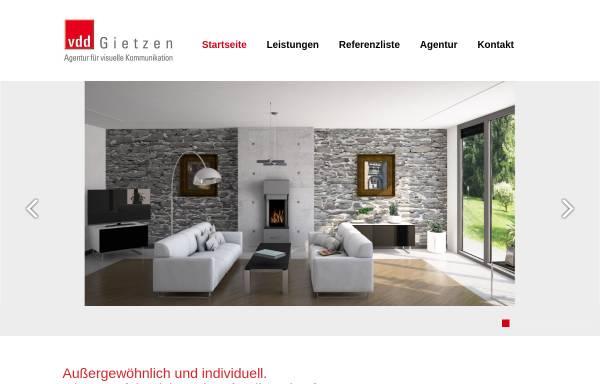 Vorschau von www.vddgietzen.de, VDD Gietzen Agentur für Grafik und Werbung