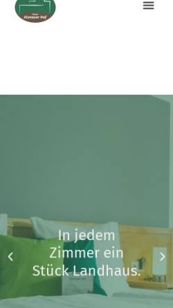 Vorschau der mobilen Webseite www.alznauerhof.de, Alznauer Hof
