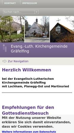 Vorschau der mobilen Webseite www.graefelfing-evangelisch.de, Friedenskirche