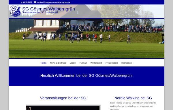 Vorschau von www.sg-goesmes-walberngruen.de, Sportgemeinschaft Gösmes-Walberngrün