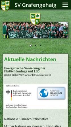 Vorschau der mobilen Webseite www.sv-grafengehaig.de, Sportverein Grafengehaig e.V.
