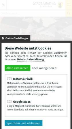 Vorschau der mobilen Webseite www.grafing.de, Stadt Grafing