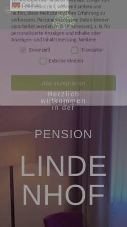 Vorschau der mobilen Webseite www.pension-lindenhof.com, Pension Lindenhof Grasbrunn