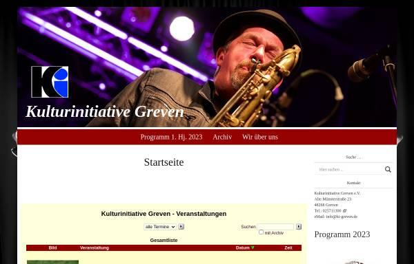 Vorschau von www.ki-greven.de, Kulturinitiative Greven