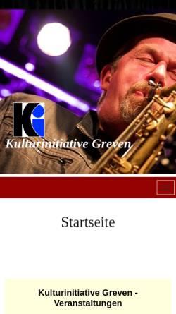Vorschau der mobilen Webseite www.ki-greven.de, Kulturinitiative Greven