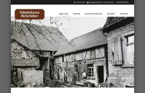 Vorschau von gaestehaus-schroeder.com, Gästehaus Schröder