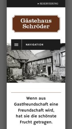 Vorschau der mobilen Webseite gaestehaus-schroeder.com, Gästehaus Schröder