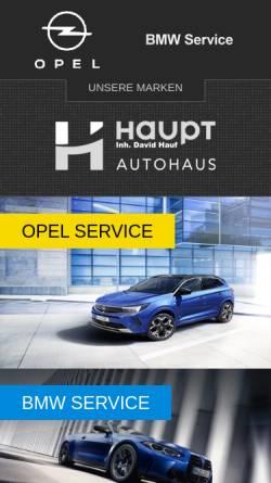 Vorschau der mobilen Webseite www.autohaus-haupt.com, Autohaus Haupt GmbH