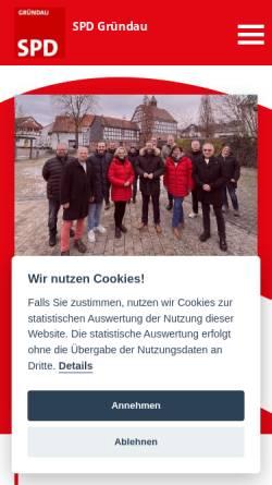 Vorschau der mobilen Webseite spd-gruendau.de, Ortsverein SPD Gründau