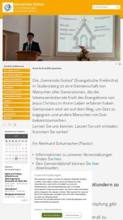 Vorschau der mobilen Webseite www.gego-gudensberg.de, Gemeinde Gottes Gudensberg