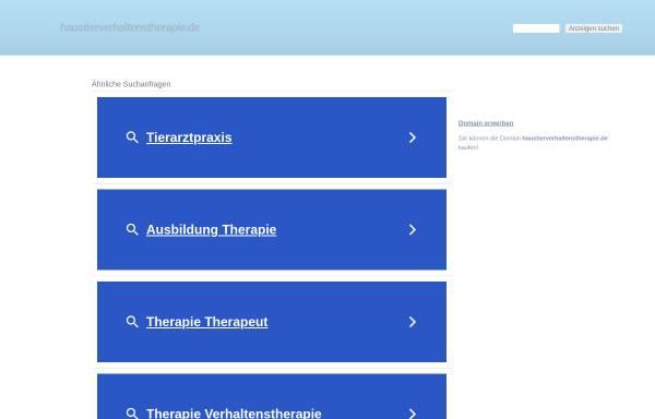 Vorschau von www.haustierverhaltenstherapie.de, Hundeschule & Verhaltenstherapie für Hunde und Katzen