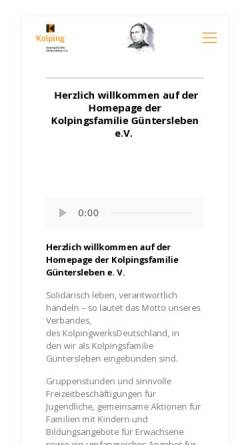 Vorschau der mobilen Webseite kolping-gue.de, Kolpingsfamilie Güntersleben e.V.