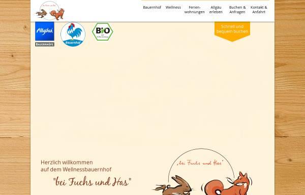 Vorschau von www.bei-fuchs-und-has.de, Urlaub auf dem Bauernhof - Familie Kammerl