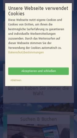 Vorschau der mobilen Webseite www.pomorin.de, Reisebüro Pomorin