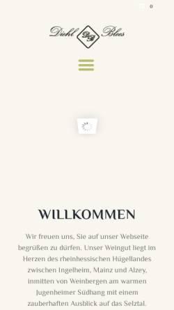 Vorschau der mobilen Webseite weingut-diehl-blees.de, Weingut Diehl-Blees