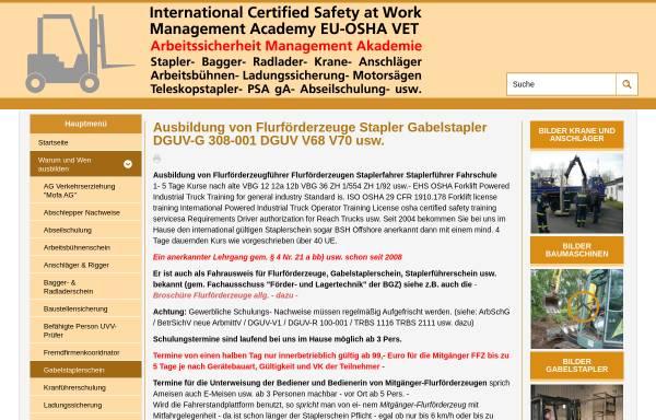 Vorschau von www.staplerschulung.net, SSM-Arbeitssicherheit Diane Drewer