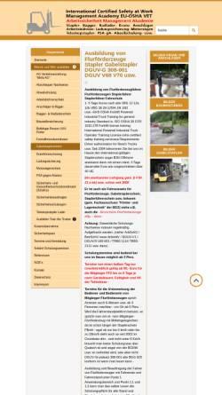 Vorschau der mobilen Webseite www.staplerschulung.net, SSM-Arbeitssicherheit Diane Drewer