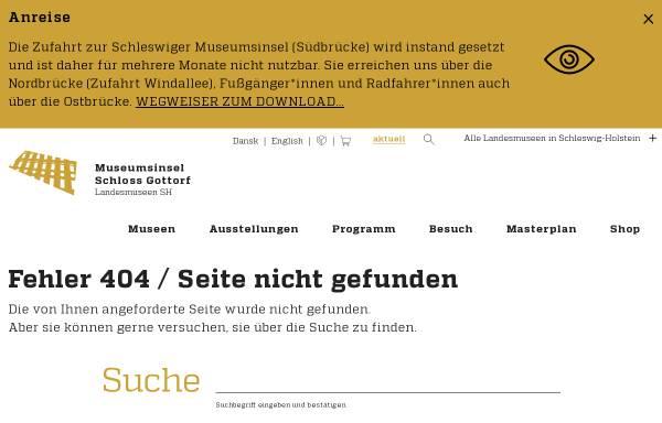 Vorschau von www.schloss-gottorf.de, Schleswig-Holsteinisches Freilichtmuseum e.V.