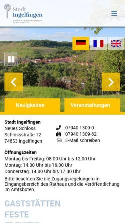 Vorschau der mobilen Webseite www.ingelfingen.de, Stadt Ingelfingen