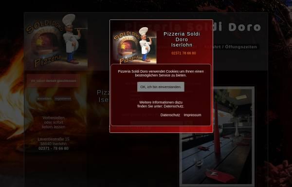 Vorschau von www.pizzeria-soldi-doro.de, Pizzeria Soldi Doro