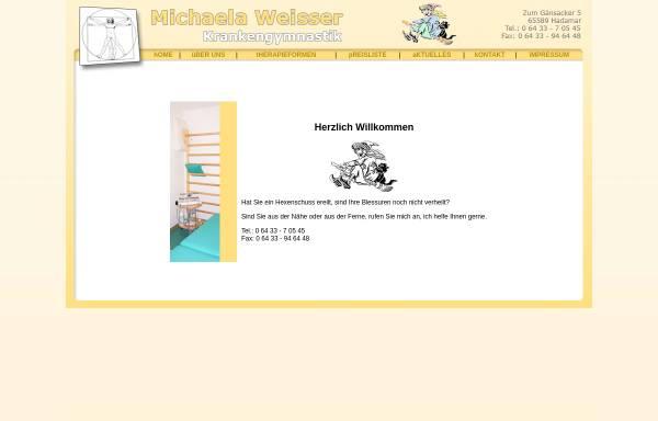 Vorschau von www.krankengymnastik-weisser.de, Weisser Krankengymnastik