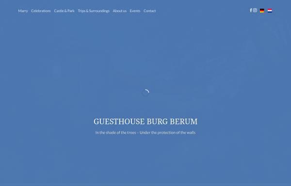Vorschau von www.burgberum.de, Gästehaus Burg Berum, Familie von Oppeln-Bronikowski