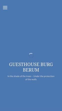 Vorschau der mobilen Webseite www.burgberum.de, Gästehaus Burg Berum, Familie von Oppeln-Bronikowski