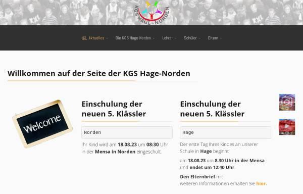 Vorschau von www.kgs-hage.de, Kooperative Gesamtschule Hage