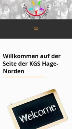 Vorschau der mobilen Webseite www.kgs-hage.de, Kooperative Gesamtschule Hage
