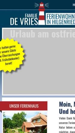 Vorschau der mobilen Webseite www.amdeichdv.de, Ferienwohnungen Familie de Vries