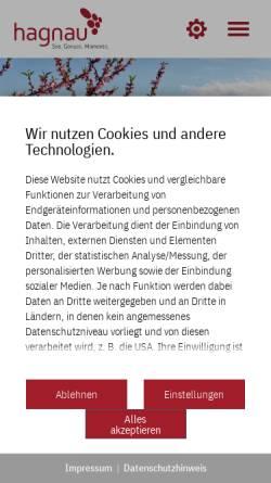 Vorschau der mobilen Webseite www.hagnau.de, Hagnau