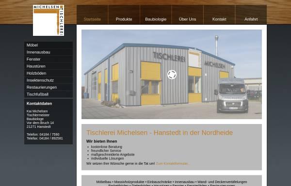 Vorschau von www.tischlerei-michelsen.de, Tischlerei Michelsen