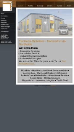 Vorschau der mobilen Webseite www.tischlerei-michelsen.de, Tischlerei Michelsen