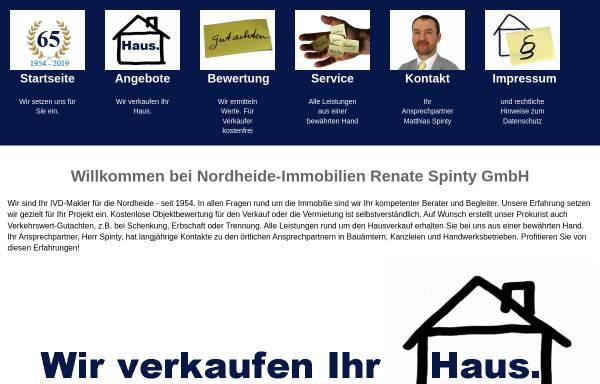 Vorschau von www.nordheide-immobilien.de, Nordheide-Immobilien Renate Spinty GmbH