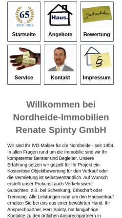 Vorschau der mobilen Webseite www.nordheide-immobilien.de, Nordheide-Immobilien Renate Spinty GmbH
