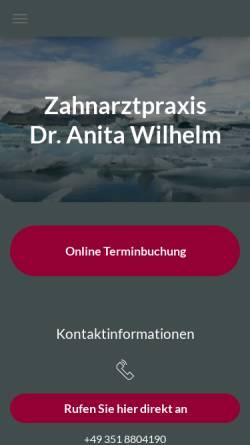 Vorschau der mobilen Webseite www.zahnarzt-dresden-klotzsche.de, Zahnarztpraxis Raschke und Dr. Wilhelm (Klotzsche/Königswald)