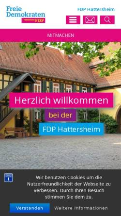 Vorschau der mobilen Webseite fdp-hattersheim.de, FDP Hattersheim am Main