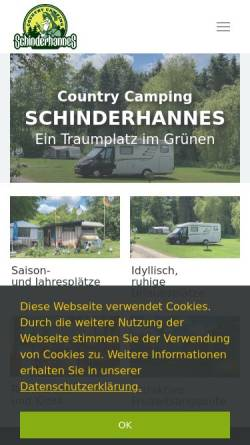 Vorschau der mobilen Webseite www.countrycamping.de, Country Camping Schinderhannes