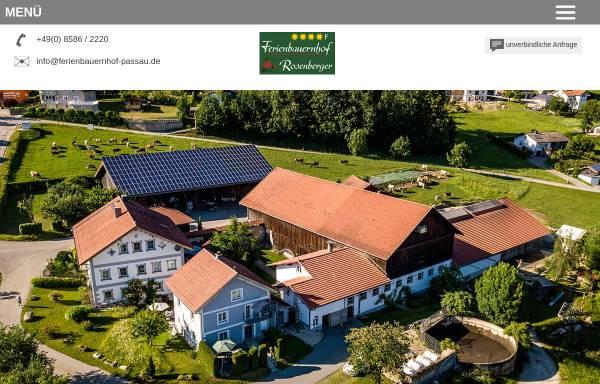 Vorschau von www.ferienbauernhof-passau.de, Ferienbauernhof Rosenberger