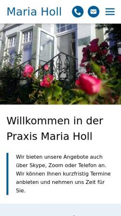 Vorschau der mobilen Webseite www.maria-holl.de, Holl, Maria