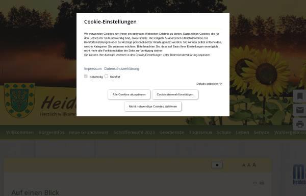 Vorschau von www.heideblick.de, Gemeinde Heideblick