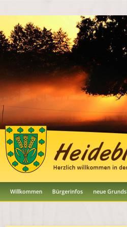 Vorschau der mobilen Webseite www.heideblick.de, Gemeinde Heideblick