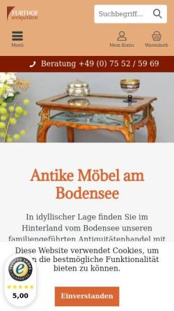 Vorschau der mobilen Webseite www.furthof-antikmoebel.de, Furthof Antikmöbel GmbH