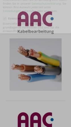 Vorschau der mobilen Webseite www.aac-kabelbearbeitung.de, AAC Kabelbearbeitungssysteme GmbH