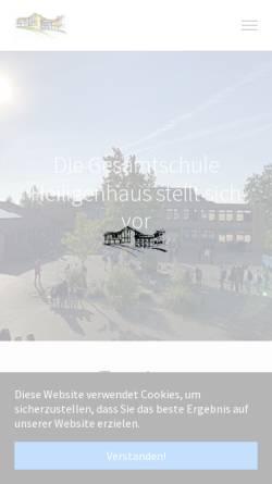 Vorschau der mobilen Webseite www.gesamtschule-heiligenhaus.de, Gesamtschule Heiligenhaus