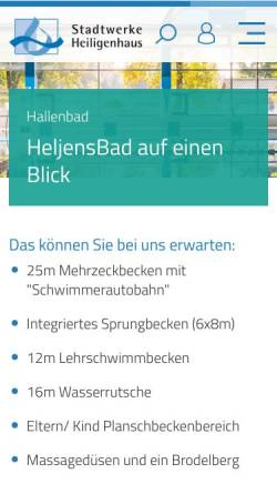 Vorschau der mobilen Webseite www.stadtwerke-heiligenhaus.de, Heljensbad