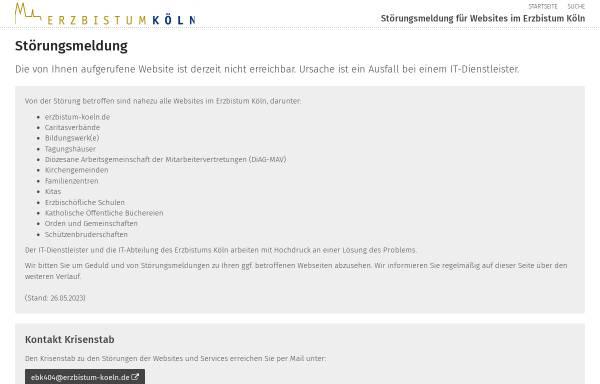 Vorschau von www.kyriake.de, Katholische Kirche Heiligenhaus