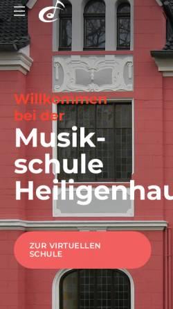 Vorschau der mobilen Webseite www.musikschule-heiligenhaus.de, Musikschule Heiligenhaus - Förderverein