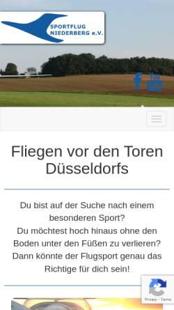 Vorschau der mobilen Webseite www.sportflug-niederberg.de, Sportflug Niederberg e.V.