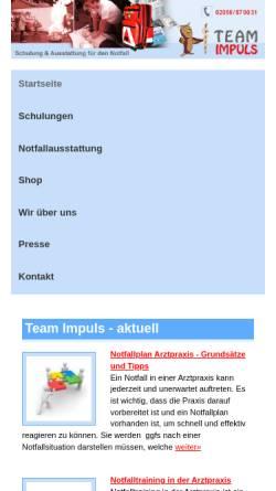 Vorschau der mobilen Webseite www.teamimpuls.de, Team Impuls